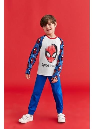 Spider-Man Spider Man Lisanslı Erkek Çocuk Pijama Takımı Saks Saks